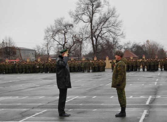 Военный священник поздравил военнослужащих с началом зимнего учебного периода