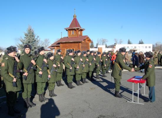 В 19-й Отдельной мотострелковой бригаде состоялась церемония принятия присяги