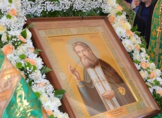 График пребывания иконы с мощами Серафима Саровского в храмах епархии