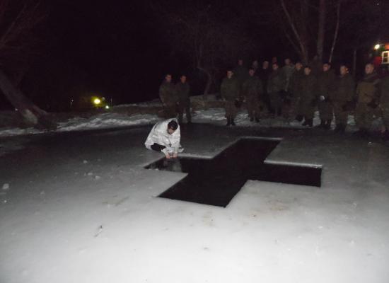 В военных частях на территории Северной Осетии отметили праздник Богоявления