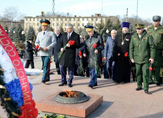 Во Владикавказе почтили память защитников Отечества