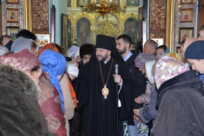 В праздник Обрезания Господня епископ Леонид возглавил Божественную литургию в храме пророка Божия Илии