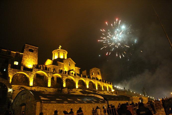 В праздник Крещения Господня в Аланском Свято-Успенском мужском монастыре побывали свыше 10 тысяч человек